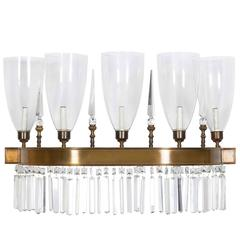 Crystal Demilune Wall Light