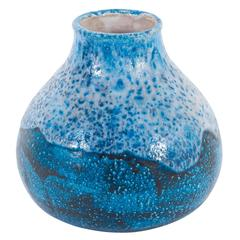 Guido Gambone Round Mottled Ceramic Vase