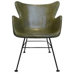 Wingback Fiberglass Chair by Lawrence Peabody for Selig
