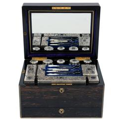 Immaculate and Apparently Unused Victorian Coromandel Dressing Case