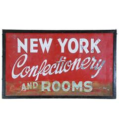 1930 Metal Two-Sided New York Advertising Sign