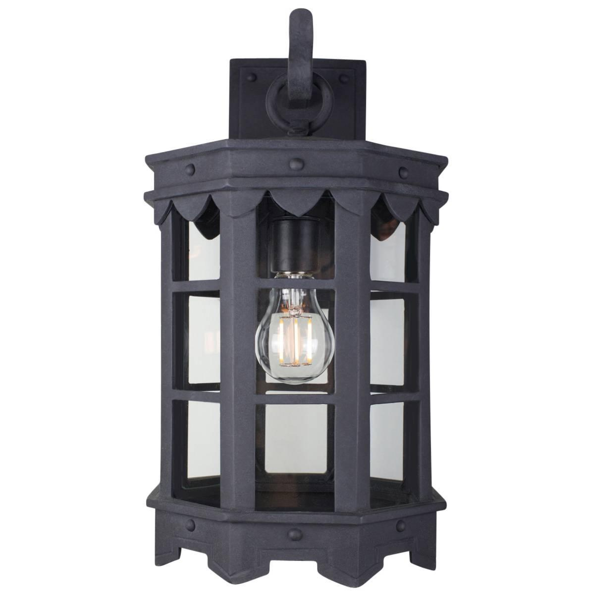 Detailed Spanish Wrought Iron Exterior Arm Mount Lantern With Premium Finish For Sale At 1stdibs