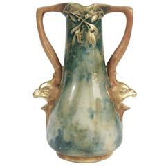 Amphora Shaped Earthenware Vase, Viennese, Austria, circa 1900