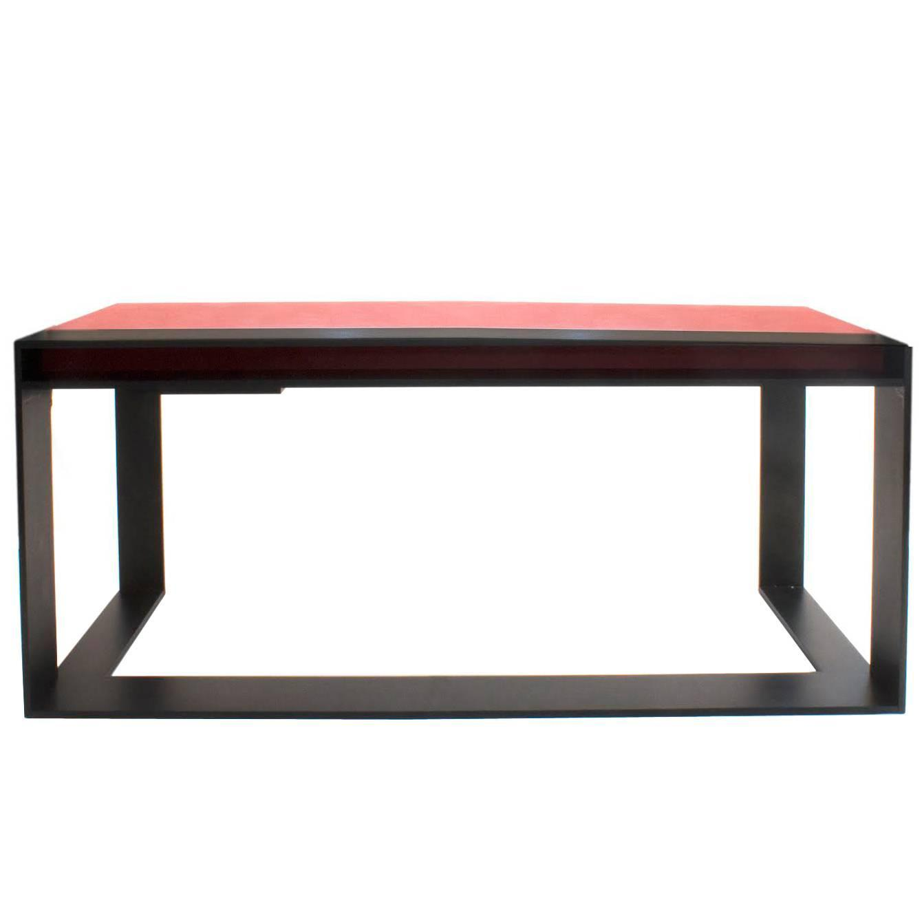 Leather Top Connectable Desk by Christian Liaigre France