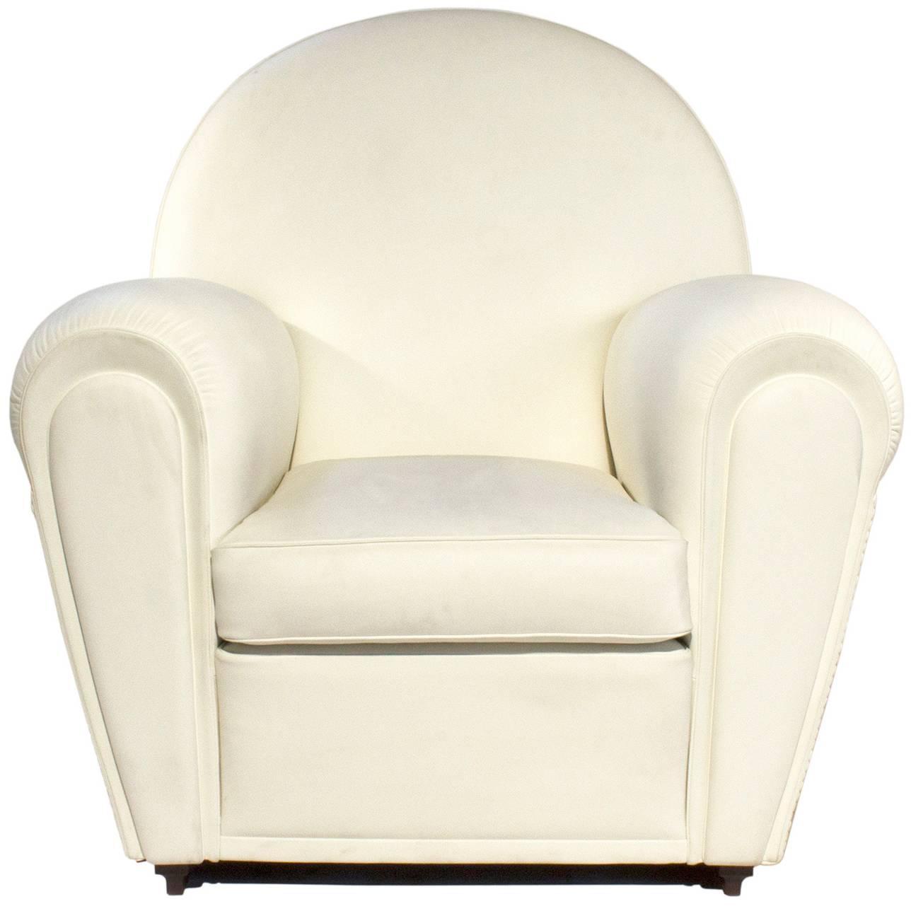 White Leather Vanity Fair Armchair by Renzo Frau for Poltrona Frau ...