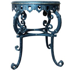 Napoleon III Circular Iron Table