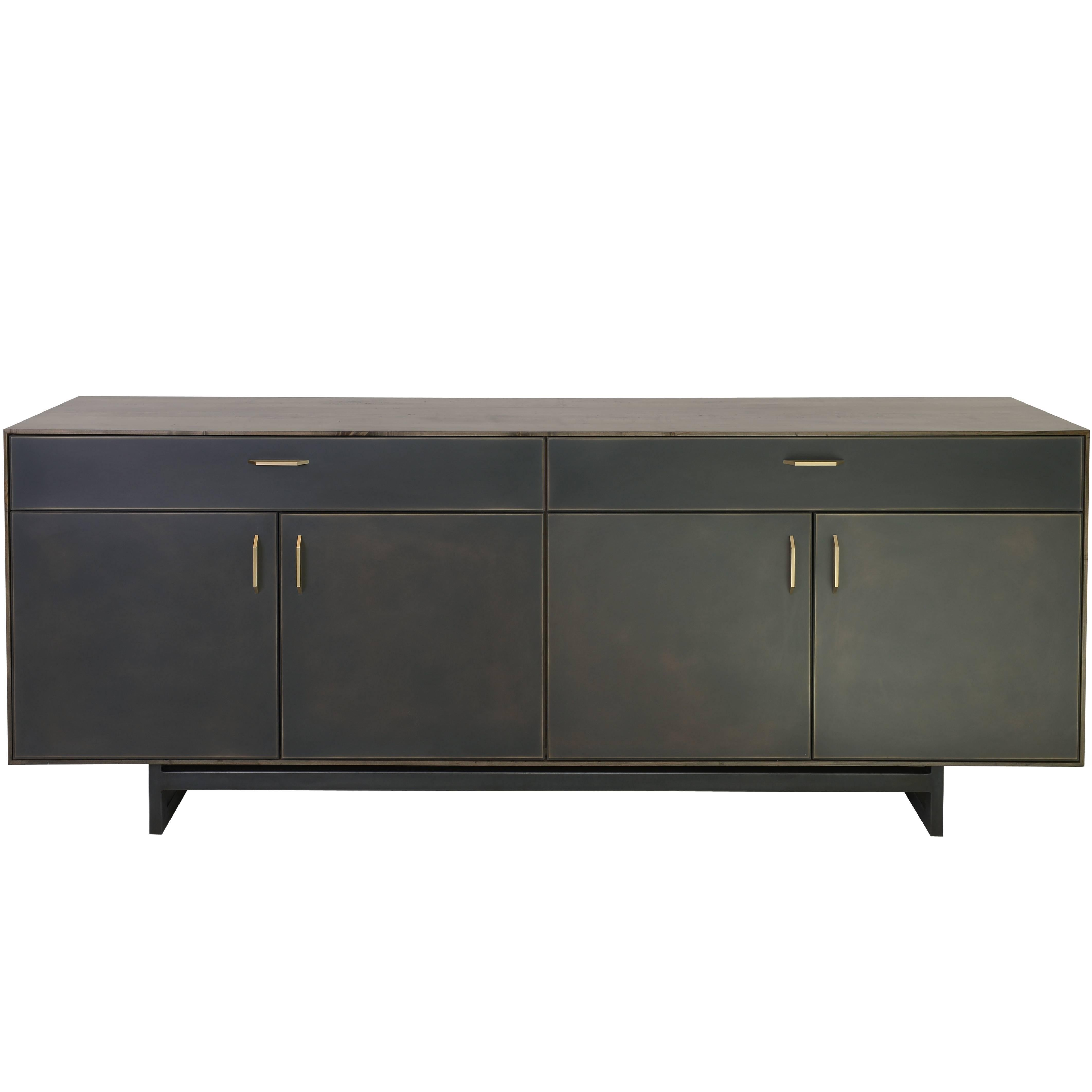 Gotham Credenza - Customizable Wood, Metal and Resin