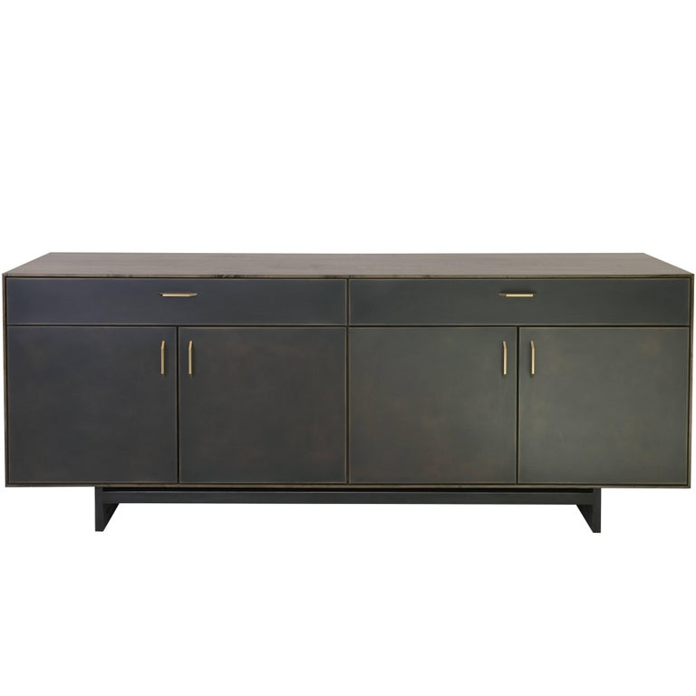 Gotham Credenza - Customizable Wood, Metal and Resin For Sale
