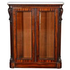 Small Bookcase or Display Cabinet in Goncalo Alves