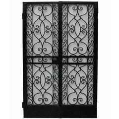 Pair of 1920s Wrought Iron Pedestrian Gates