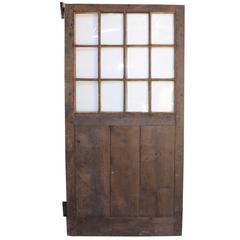 Late 18th Century English Glazed Oak Door