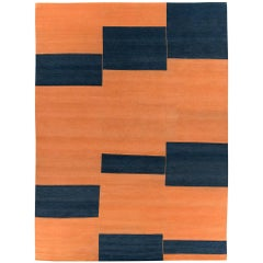 Contemporary Original Design 'Terrain' Wool Area Rug