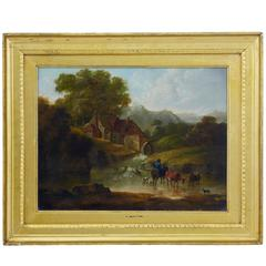 19th Century Oil on Canvas by Thomas Smythe