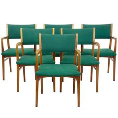 Set of Six Scandinavian Modern 1960s Armchairs