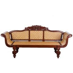 Antique Anglo-Indian Mahogany Sofa