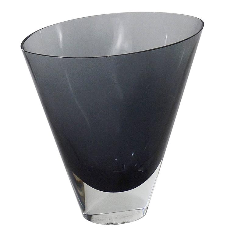 Conical Glass Vase with a Clear Glass Base by Kaj Franck, 1911-1989