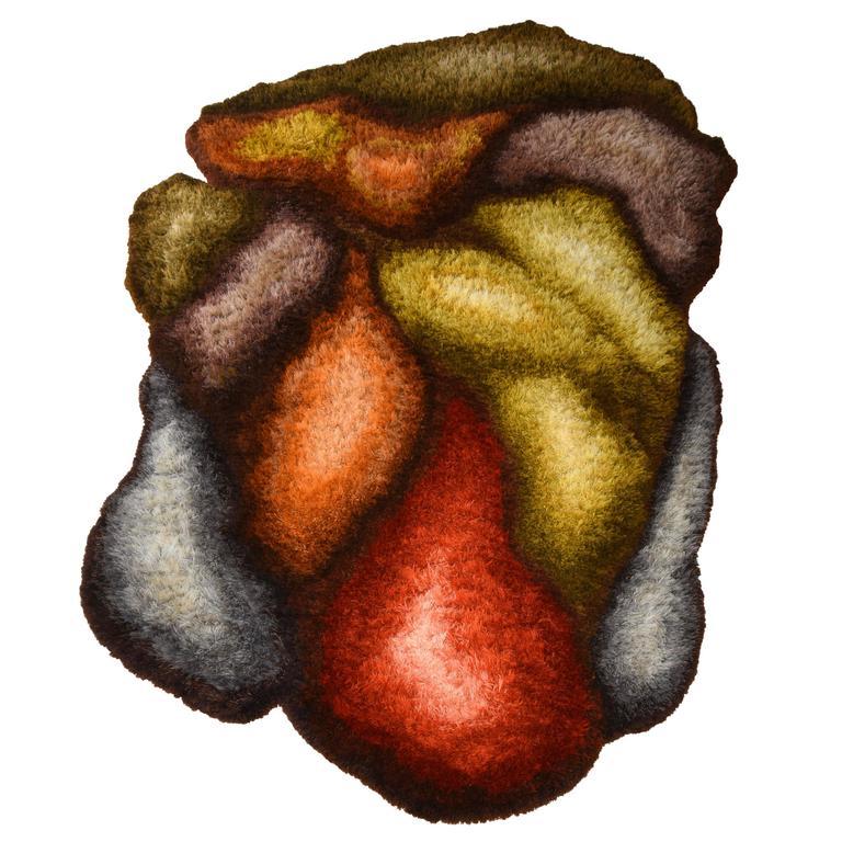 """Urban Jupena Large Flossa Wool 18 ft Rug, """"Winston,"""" 1970s"""