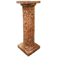 Early 20th Century Glazed Terracotta Pedestal