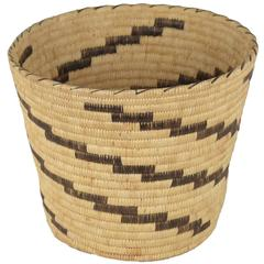 20th Century Handwoven Native American Open Basket