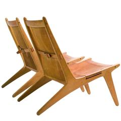 Pair of Hunting Chairs Model 204 by Uno and Osten Kristiansson