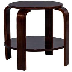 Round French Art Deco Tiered Side Table