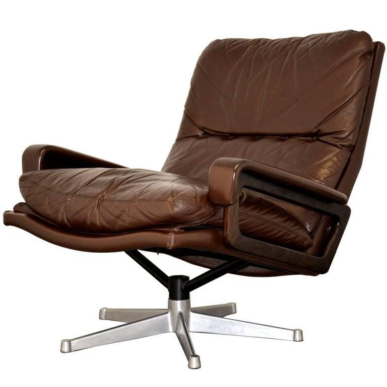 vintage king swivel desk armchair from strassle of switzerland