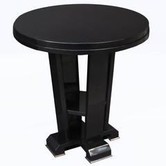 Art Deco Ebonized Side Table