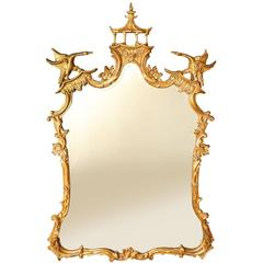 George III Style Giltwood Looking Glass