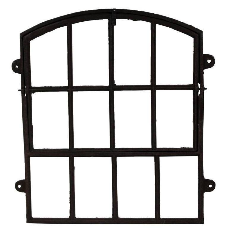 19th Century Industrial Iron Window Frame, 20 pcs available