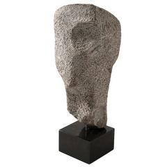 Abstract 'Head' Sculpture in Natural Stone