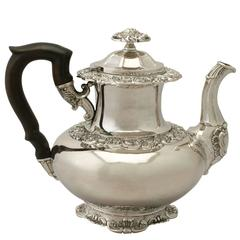 1850s Antique German Silver Coffee Pot