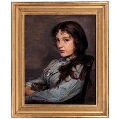 Harry Robert Mileham, Portrait of Gabrielle Mileham Artists Niece