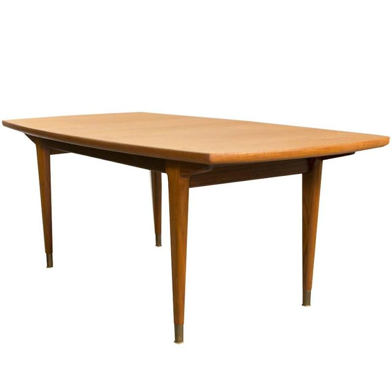 Mid Century Dining Table By Gustav Bahus At 1stdibs