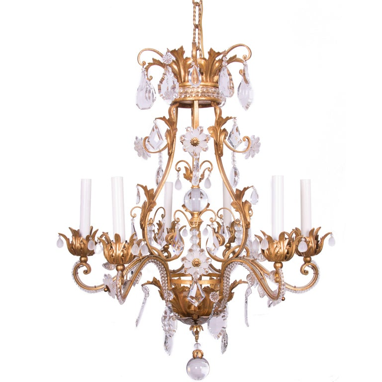 French Baguès Chandelier For Sale
