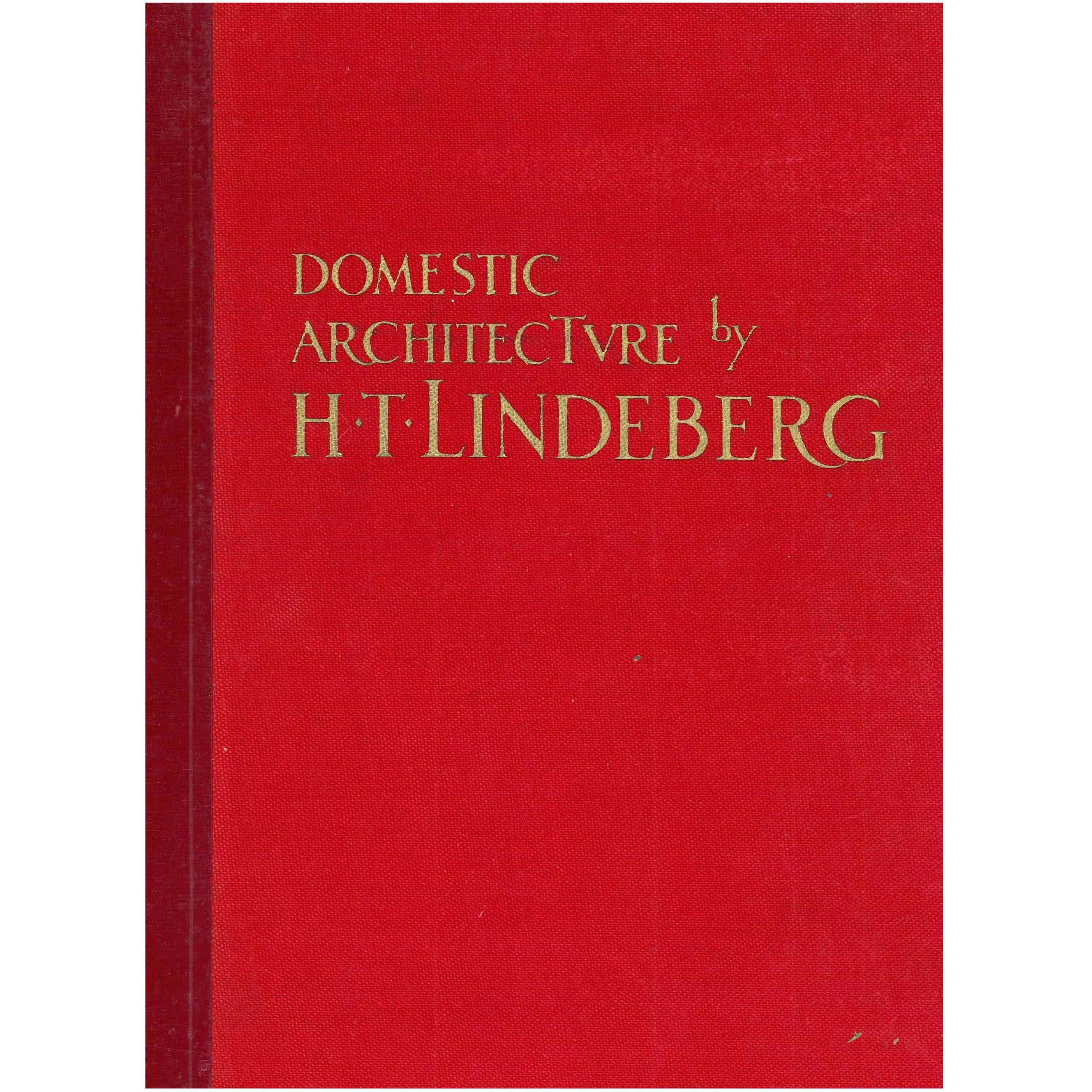 """""""DOMESTIC ARCHITECTURE by H.T. LINDEBERG'' Book"""