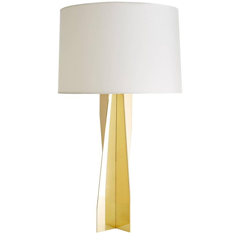 Folded Brass Origami Table Lamp