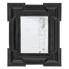 Pair of 19 C. Dutch Ebonized Mirrors