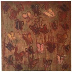 """Red Butterflies"" by Hunt Slonem"