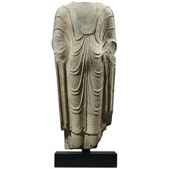 Ancient Torso of a Standing Buddha, China, Qi Dynasty, circa 550 A.D