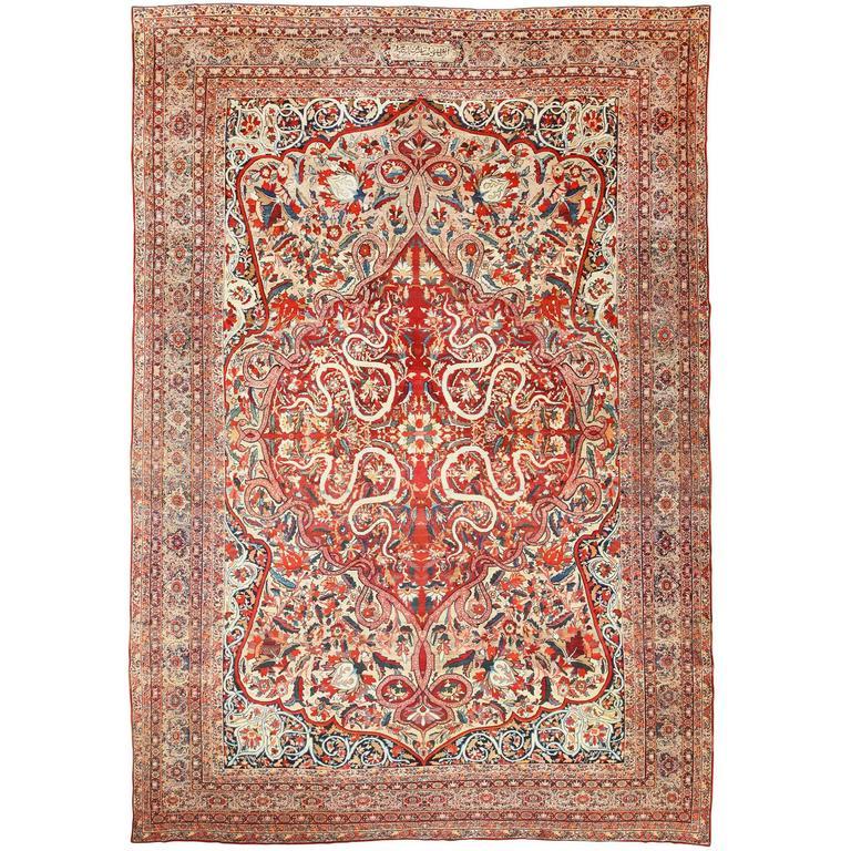 Antique Kerman Rug For Sale At 1stdibs