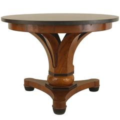 Austrian Biedermeier Marble Topped Mahogany Center Table