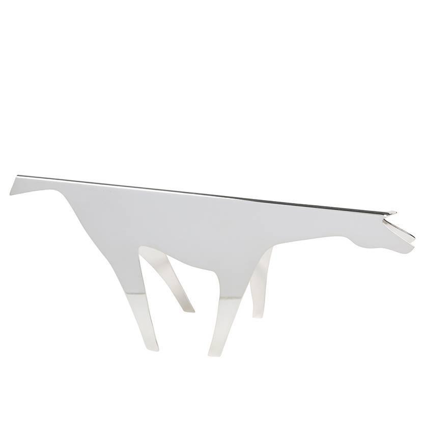 """Silver Plate Horse Sculpture Titled """"Cavallo"""" by Gio Ponti, Lino Sabattini"""