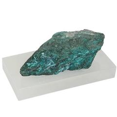 Large Exquisite Malachite Specimen on Lucite Plinth from the Brody House