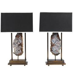 Pair of Special Edition Pedra Table Lamps by Dragonette Private Label