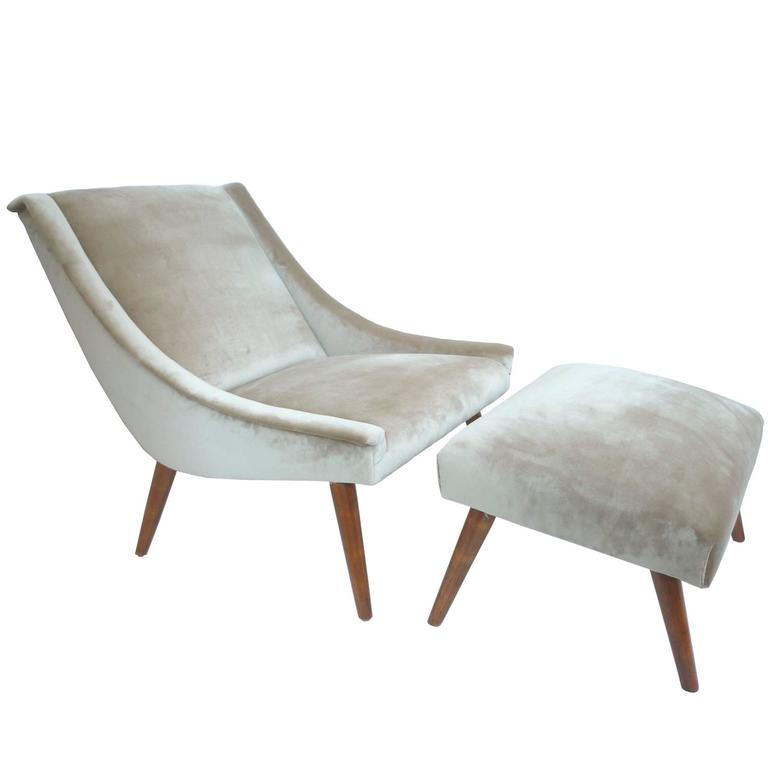 1960s Adrian Pearsall Lounge Chair with Ottoman at 1stdibs