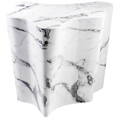 Trespa Side Table in White Marble, 24-Trespa