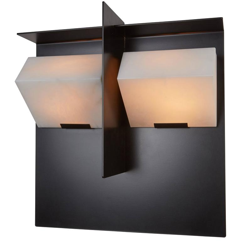 """Mask"" Wall Lamp by Pierre Chareau Model SMA 119 A For Sale"