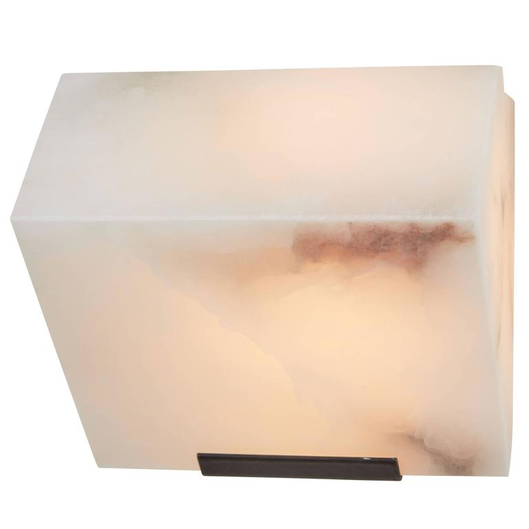 Simple Sloping Block Wall Lamp by Pierre Chareau Model SBA 108