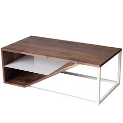 The Cortado, Modern Walnut and Powder Coated Steel Coffee Table