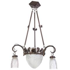 Magnificent Early French Art Deco Chandelier by Charles Schneider